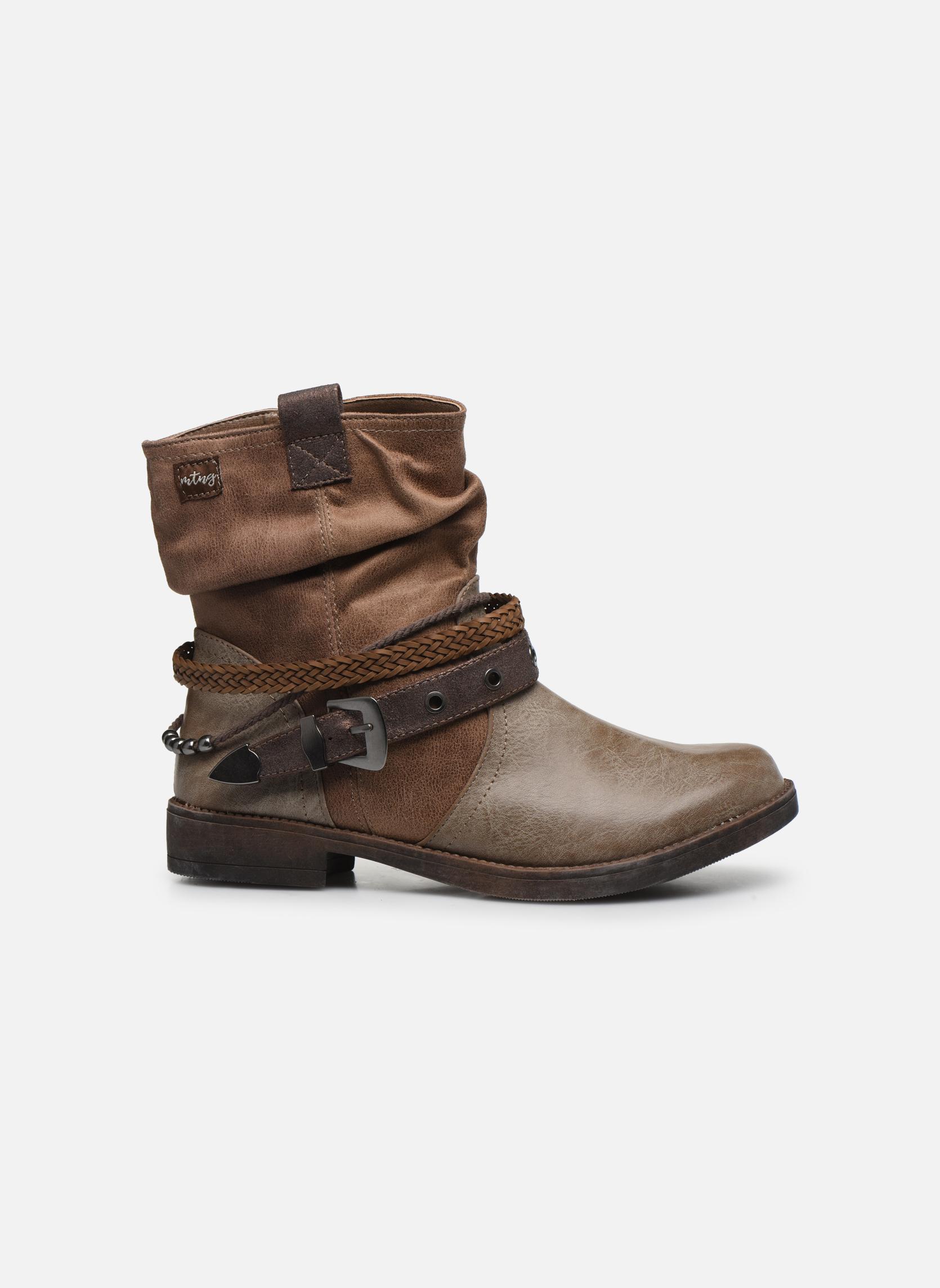 Bottines et boots MTNG Fausta Marron vue derrière