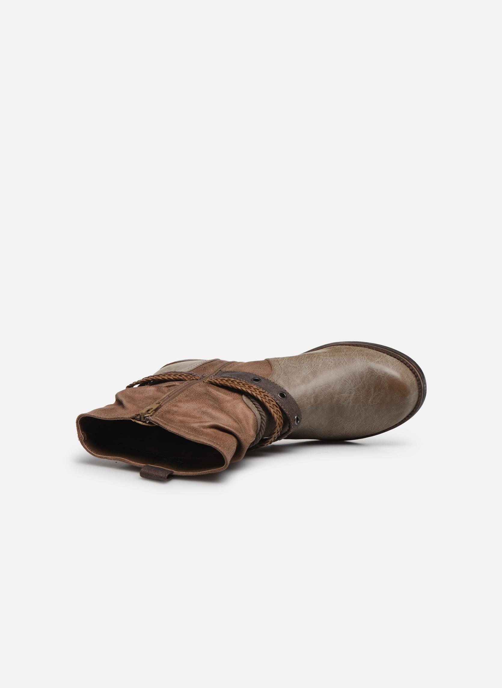 Bottines et boots MTNG Fausta Marron vue gauche