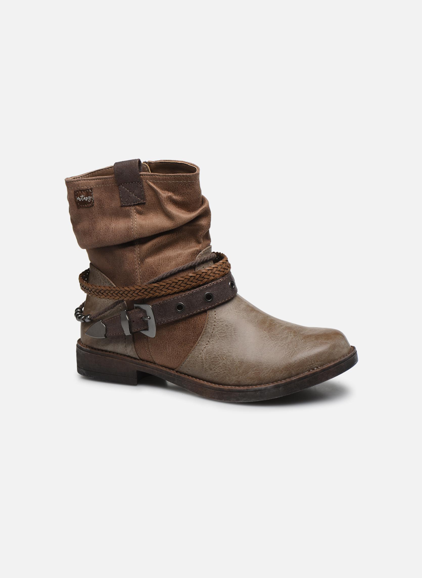 Bottines et boots MTNG Fausta Marron vue détail/paire