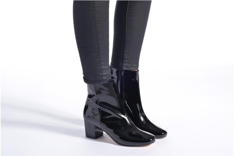Bottines et boots Dune London Pebble Noir vue bas / vue portée sac