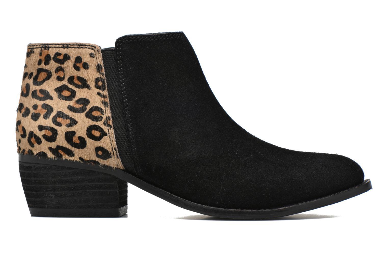 Penelope Black leather / Leopard Pony
