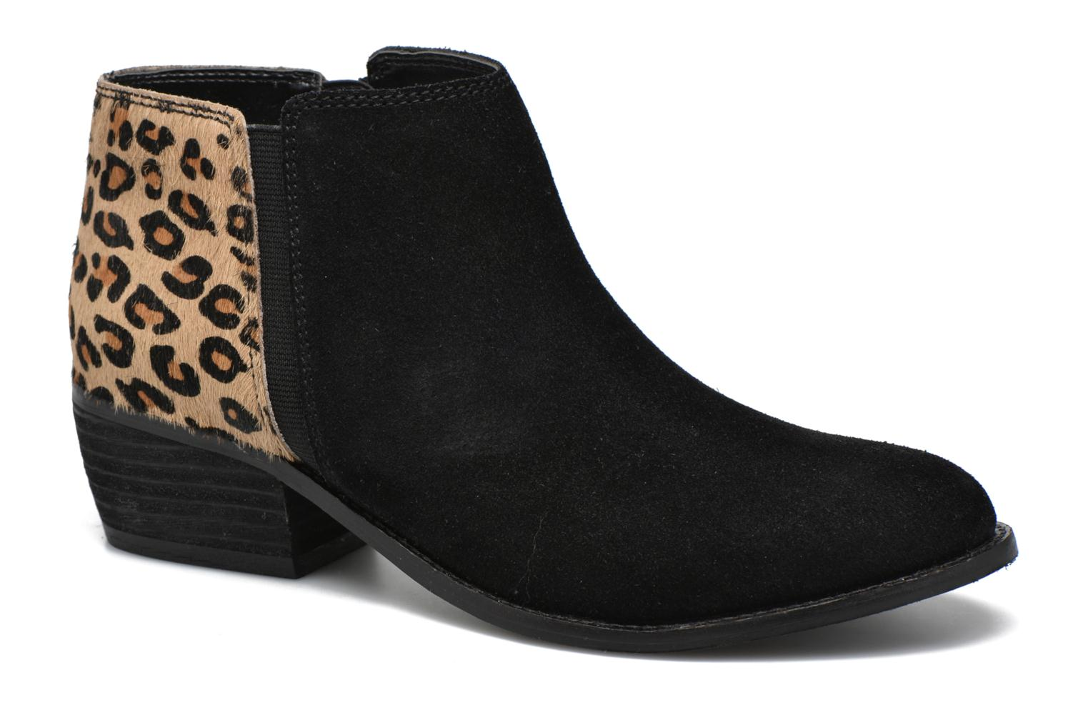 Penelope Black leather / Leopard Pony