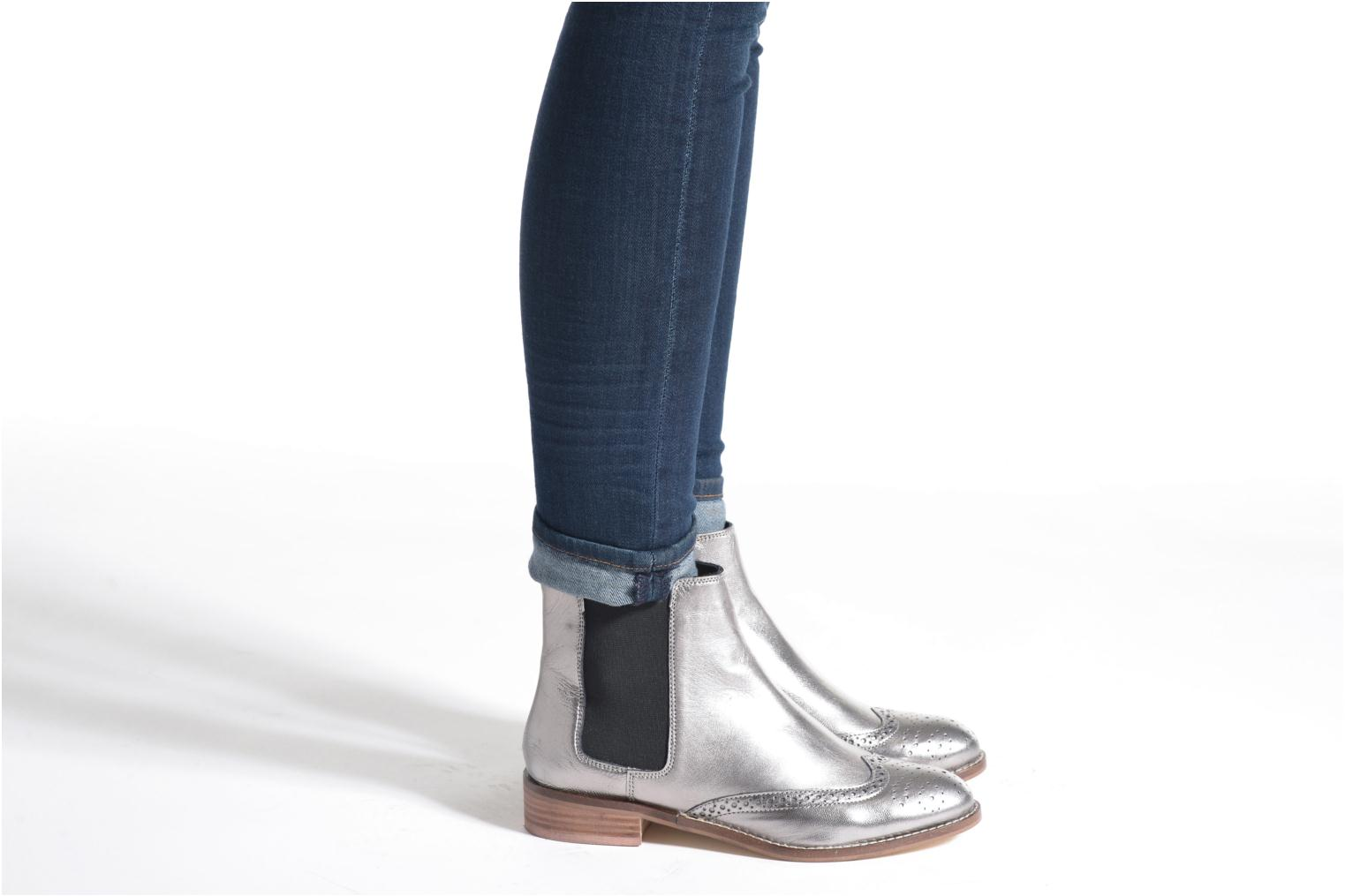 Ankle boots Dune London Quentin Silver view from underneath / model view