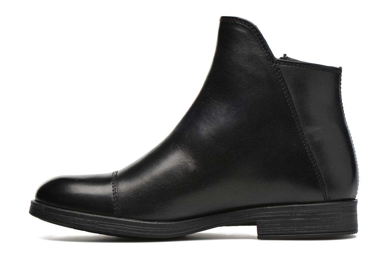 Bottines et boots Geox J Agata C J5449C Noir vue face