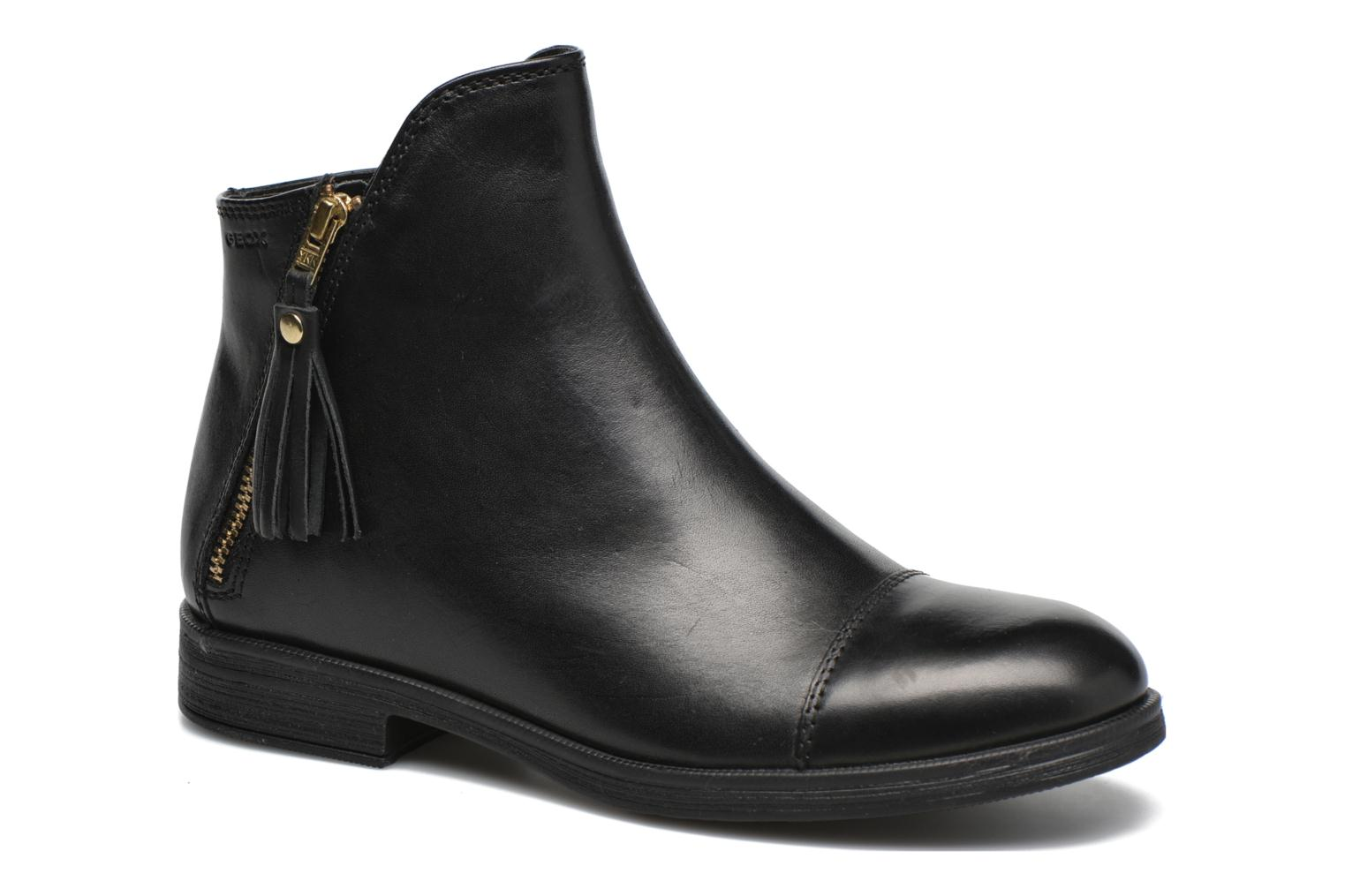 Ankle boots Geox J Agata C J5449C Black detailed view/ Pair view