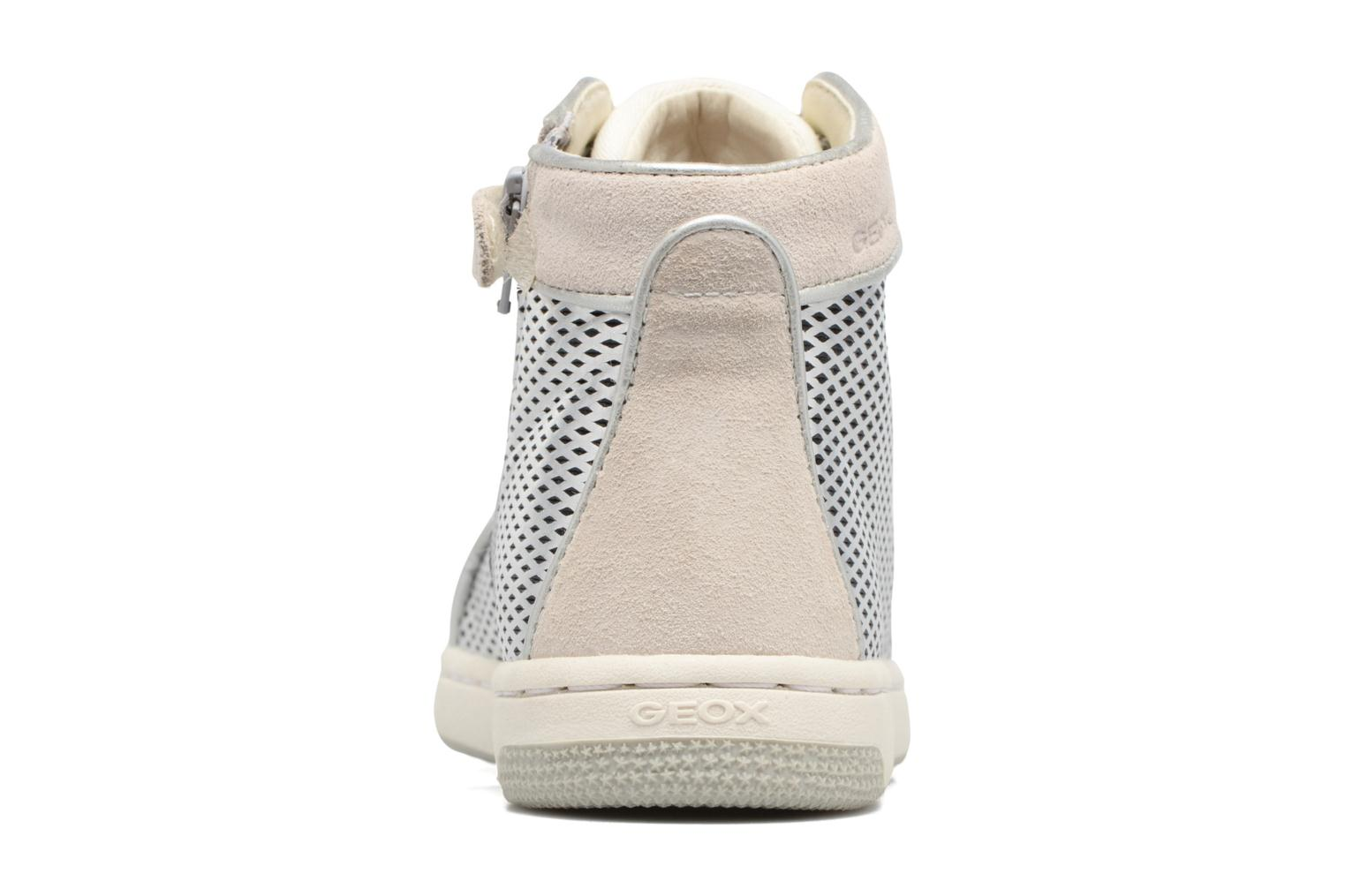 Trainers Geox J Creamy E J62L5E Silver view from the right