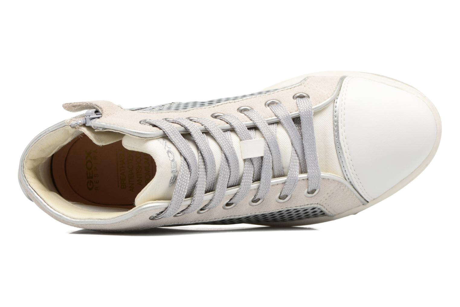 Trainers Geox J Creamy E J62L5E Silver view from the left