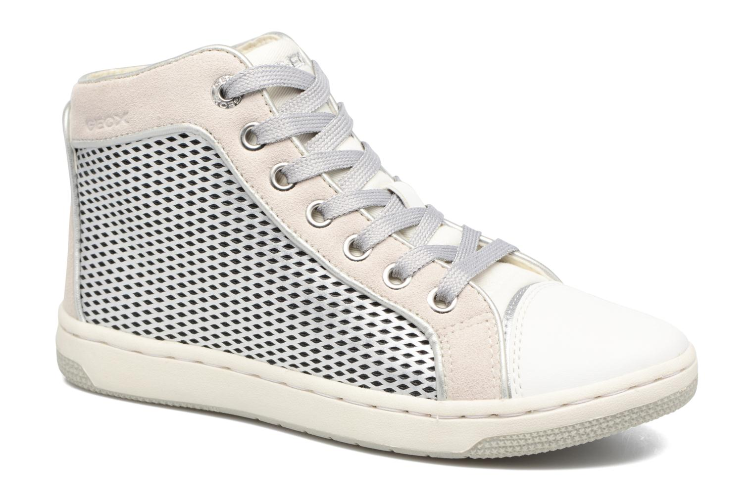 Trainers Geox J Creamy E J62L5E Silver detailed view/ Pair view