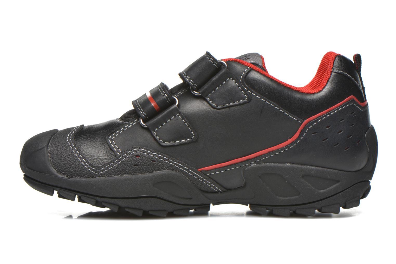 Chaussures à scratch Geox J N.Savage B.A J641VA Noir vue face