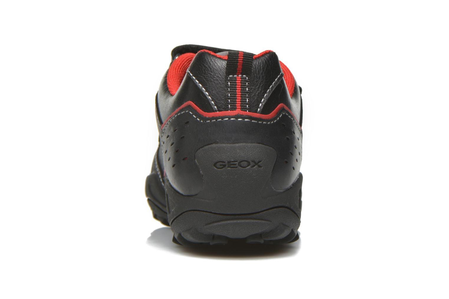 Velcro shoes Geox J N.Savage B.A J641VA Black view from the right