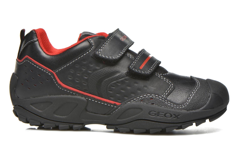 Velcro shoes Geox J N.Savage B.A J641VA Black back view