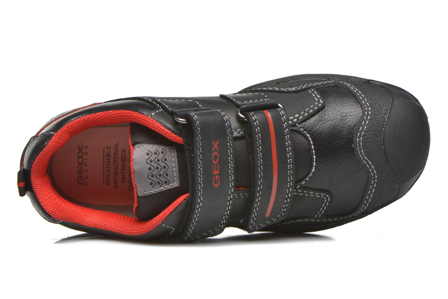 Velcro shoes Geox J N.Savage B.A J641VA Black view from the left