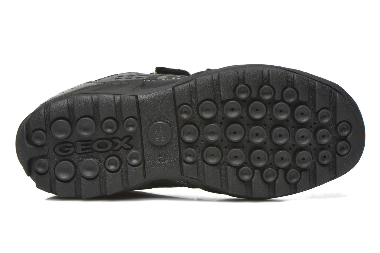 Chaussures à scratch Geox J N.Savage B.A J641VA Noir vue haut