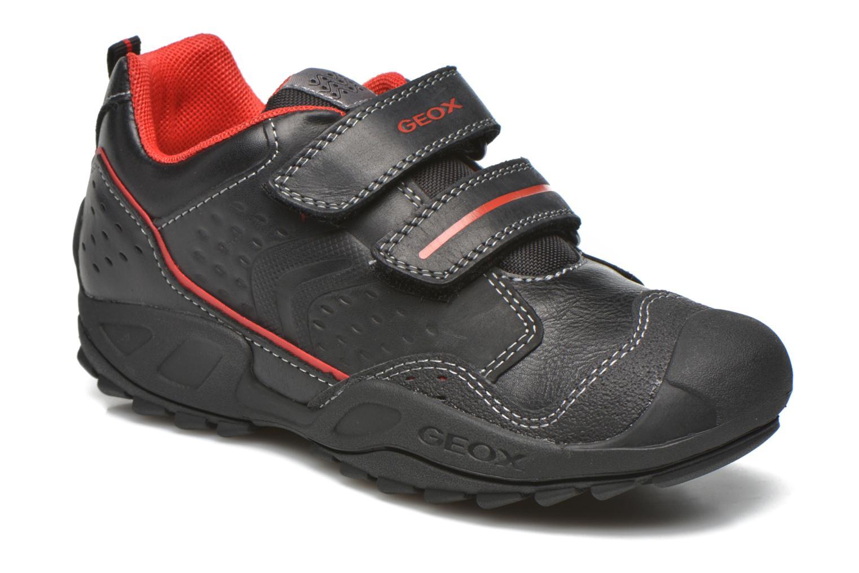 Velcro shoes Geox J N.Savage B.A J641VA Black detailed view/ Pair view