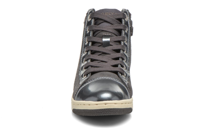 Sneaker Geox J Creamy A J64L5A grau schuhe getragen