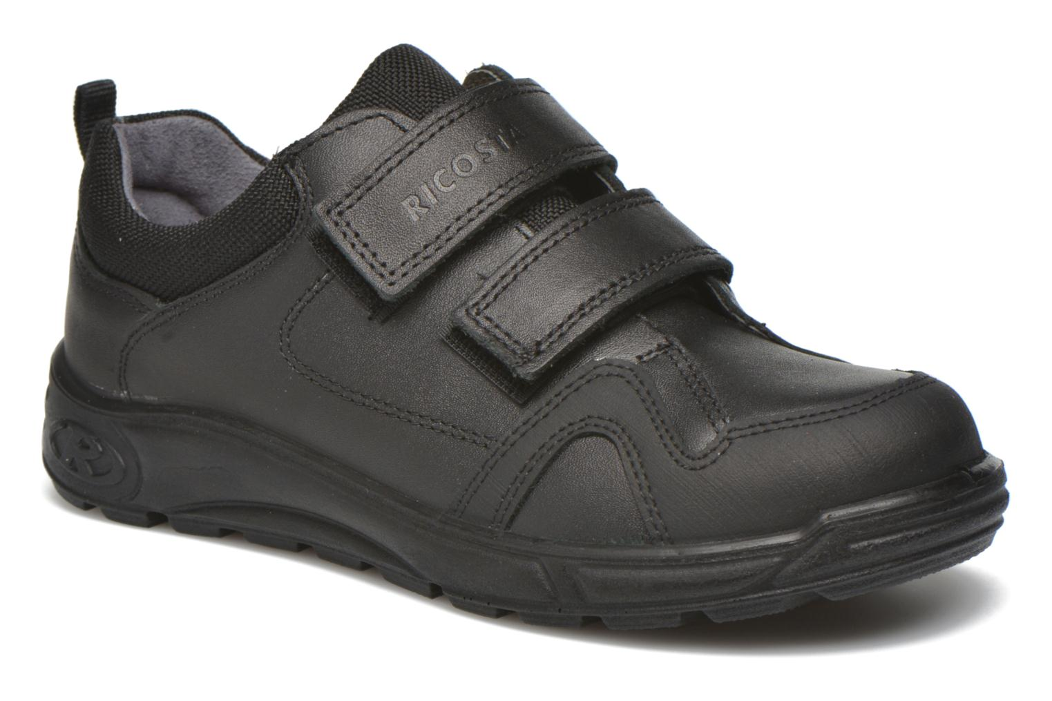 Velcro shoes Ricosta Tamo Black detailed view/ Pair view