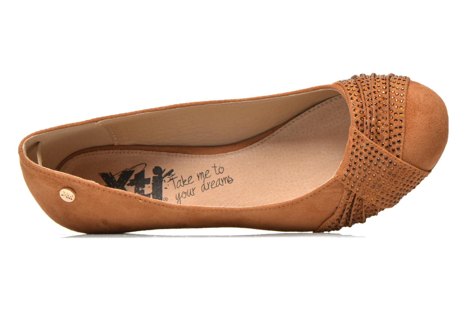 Ballet pumps Xti Sunday 45106 Brown view from the left