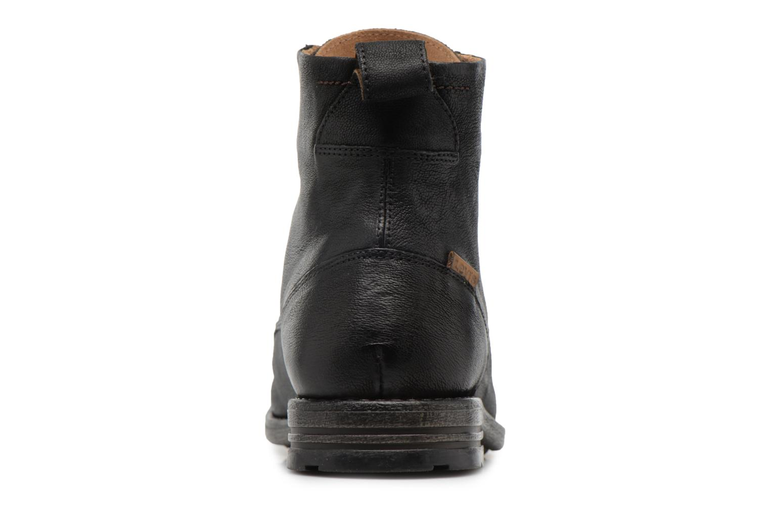 Ankle boots Levi's Emerson Lace Up Black view from the right