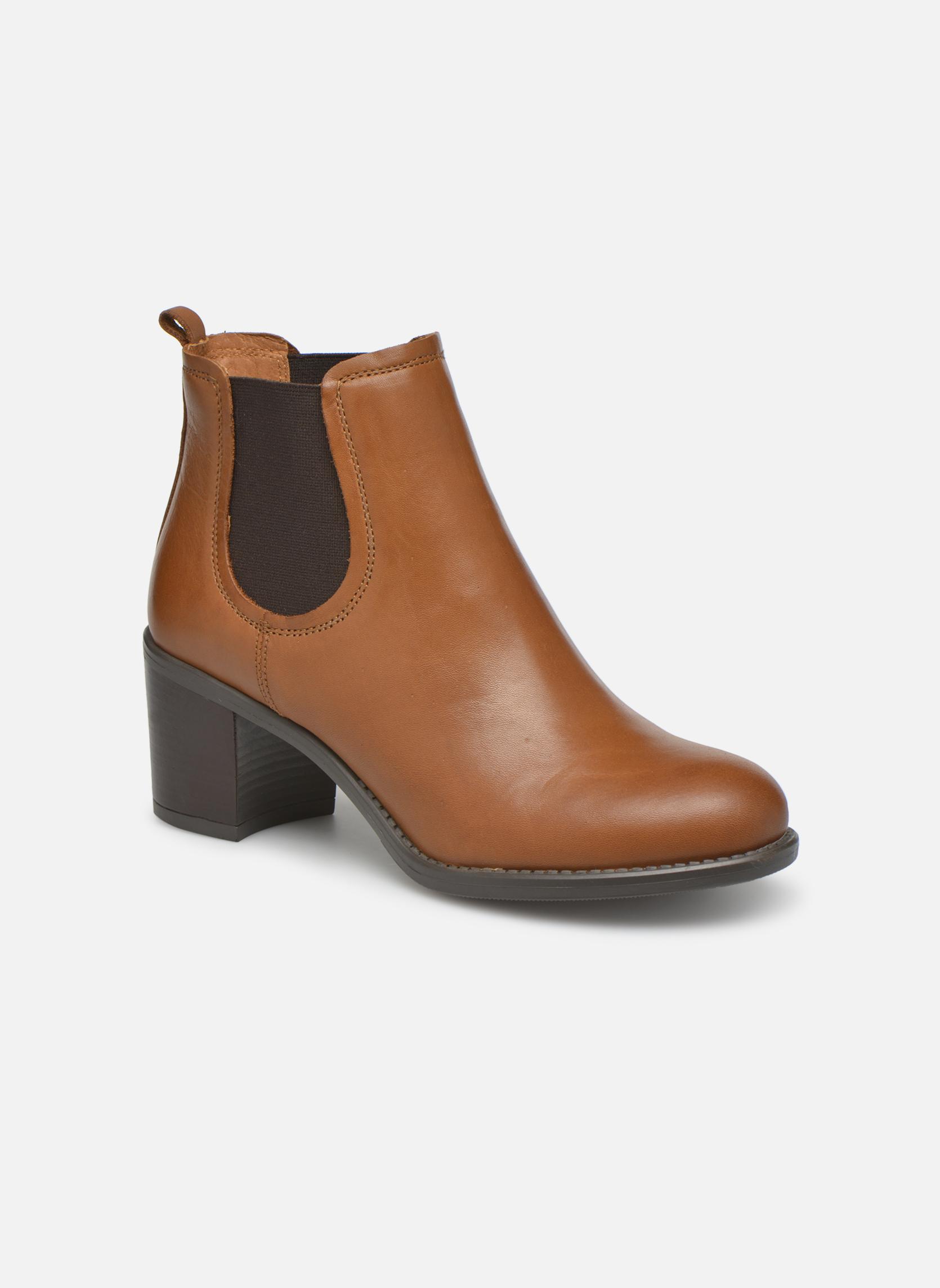 Bottines et boots Georgia Rose Analla Marron vue détail/paire
