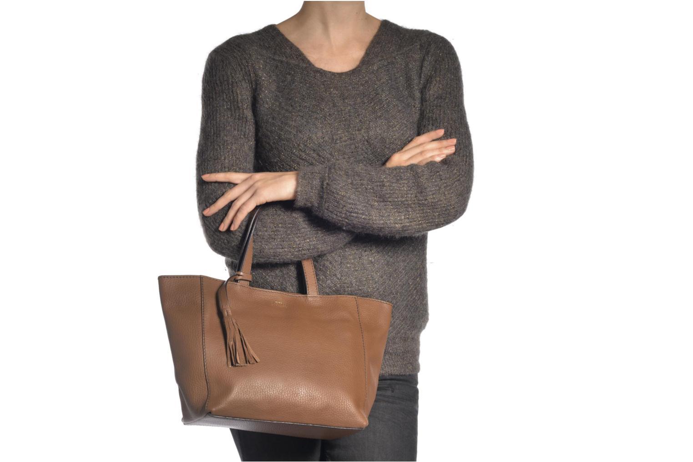 Handtaschen Loxwood CABAS PARISIEN S Cuir grainé schwarz ansicht von oben
