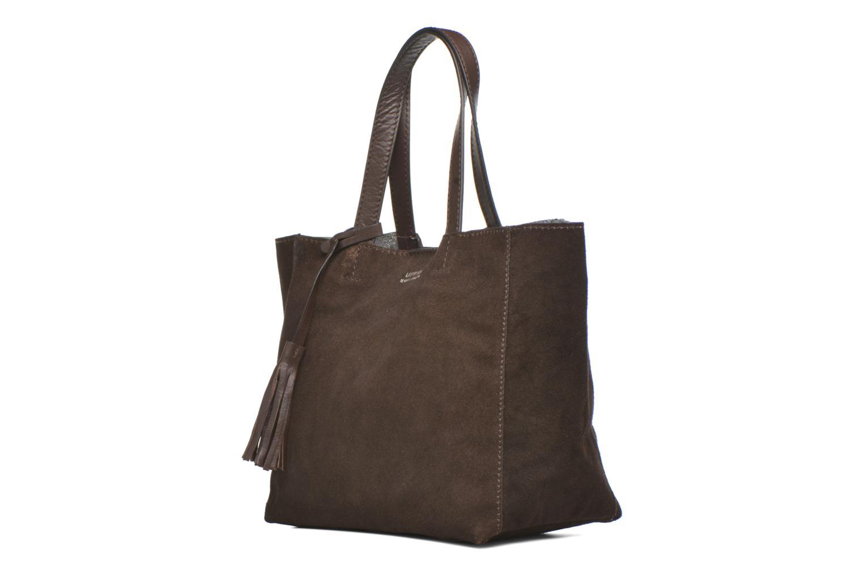 Handtaschen Loxwood CABAS PARISIEN Croute velours braun schuhe getragen