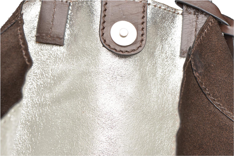 Handtaschen Loxwood CABAS PARISIEN Croute velours braun ansicht von hinten