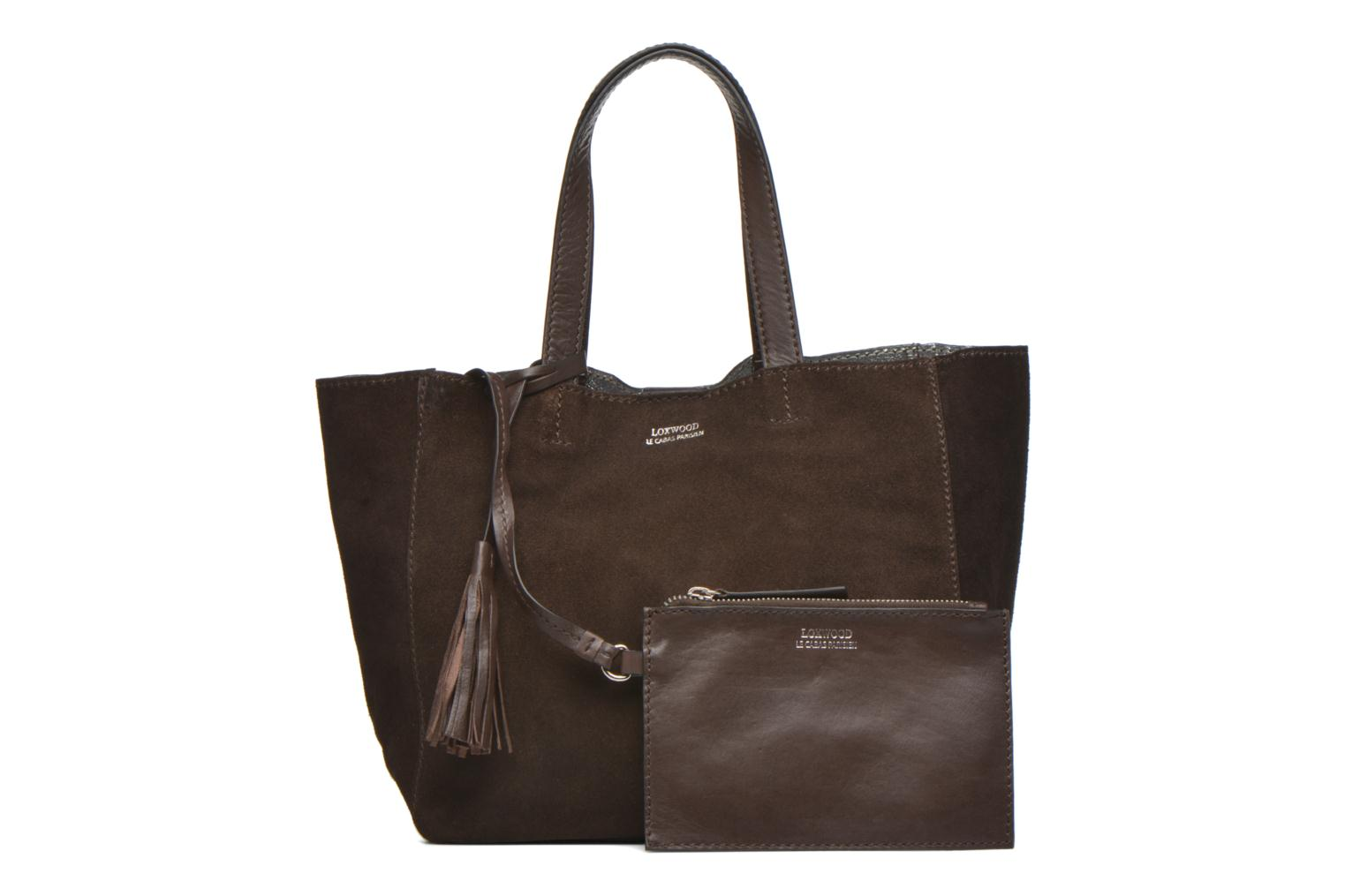 Handbags Loxwood CABAS PARISIEN Croute velours Brown view from the left