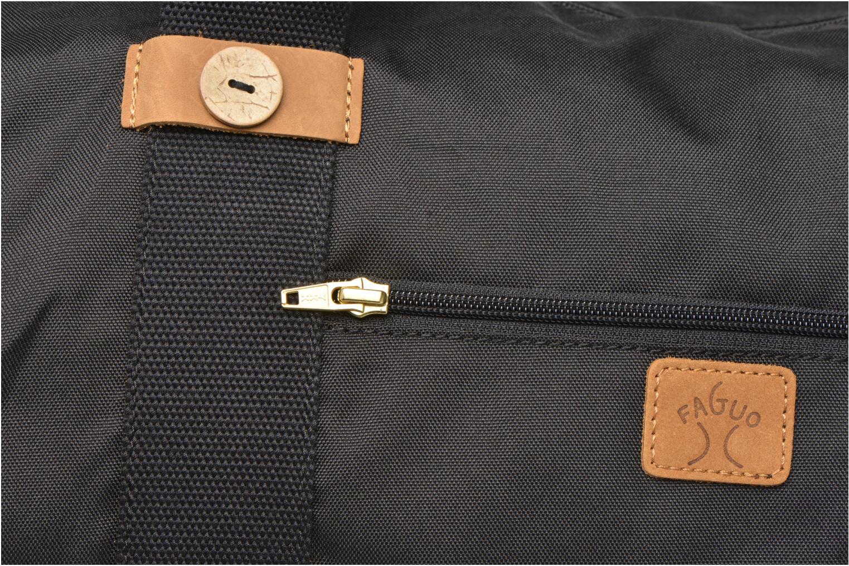 Bagages Faguo Big duffle bag nylon Noir vue gauche