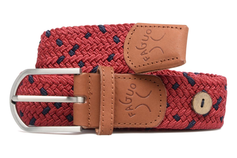 Belt tressée bicolore III Carmine/navy