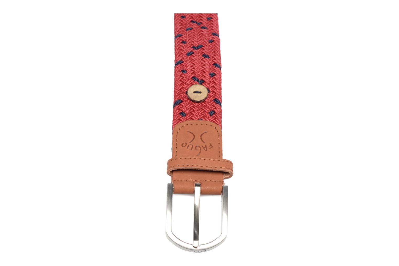Belts Faguo Belt tressée bicolore III Red front view