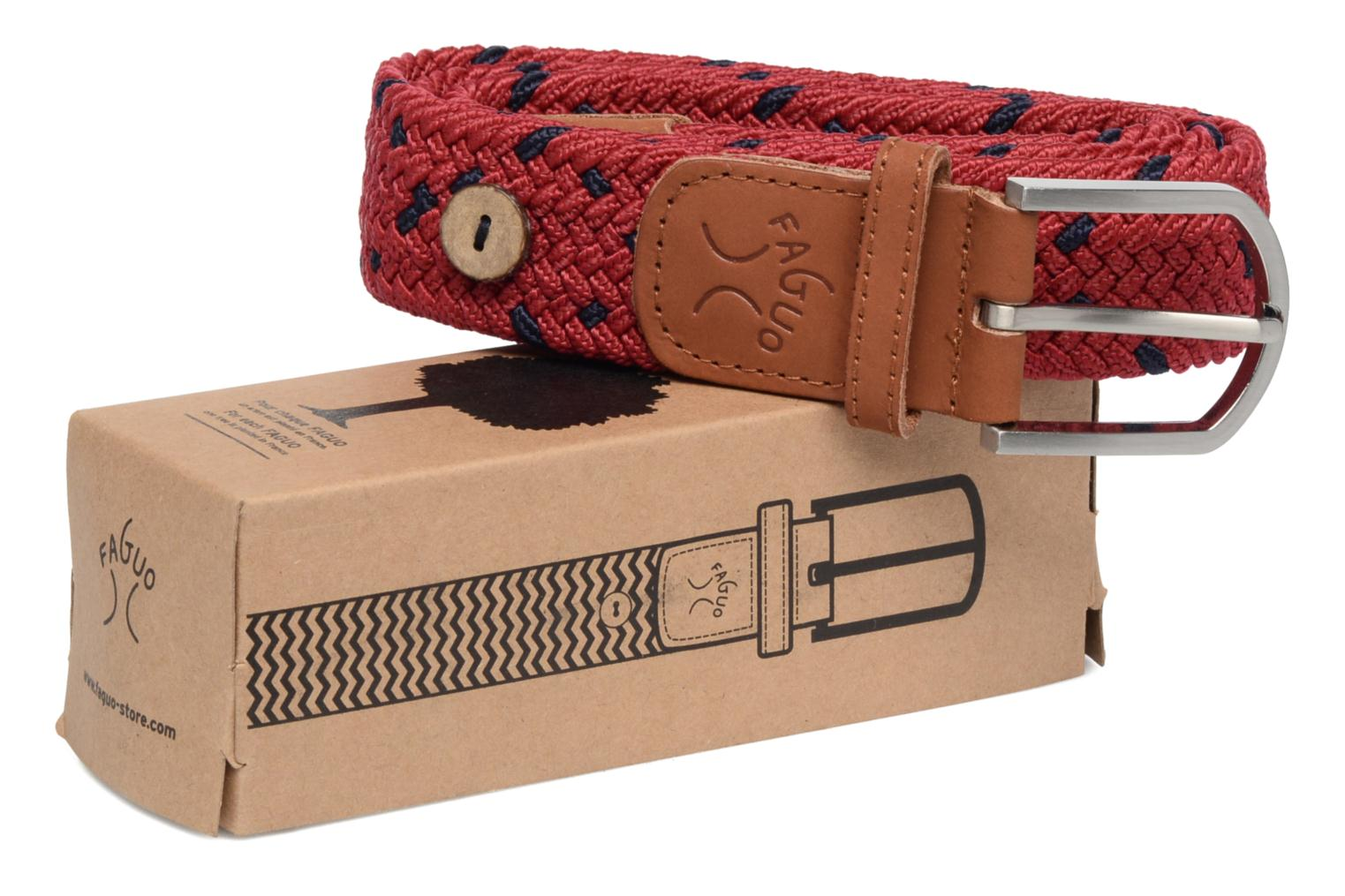 Belts Faguo Belt tressée bicolore III Red detailed view/ Pair view
