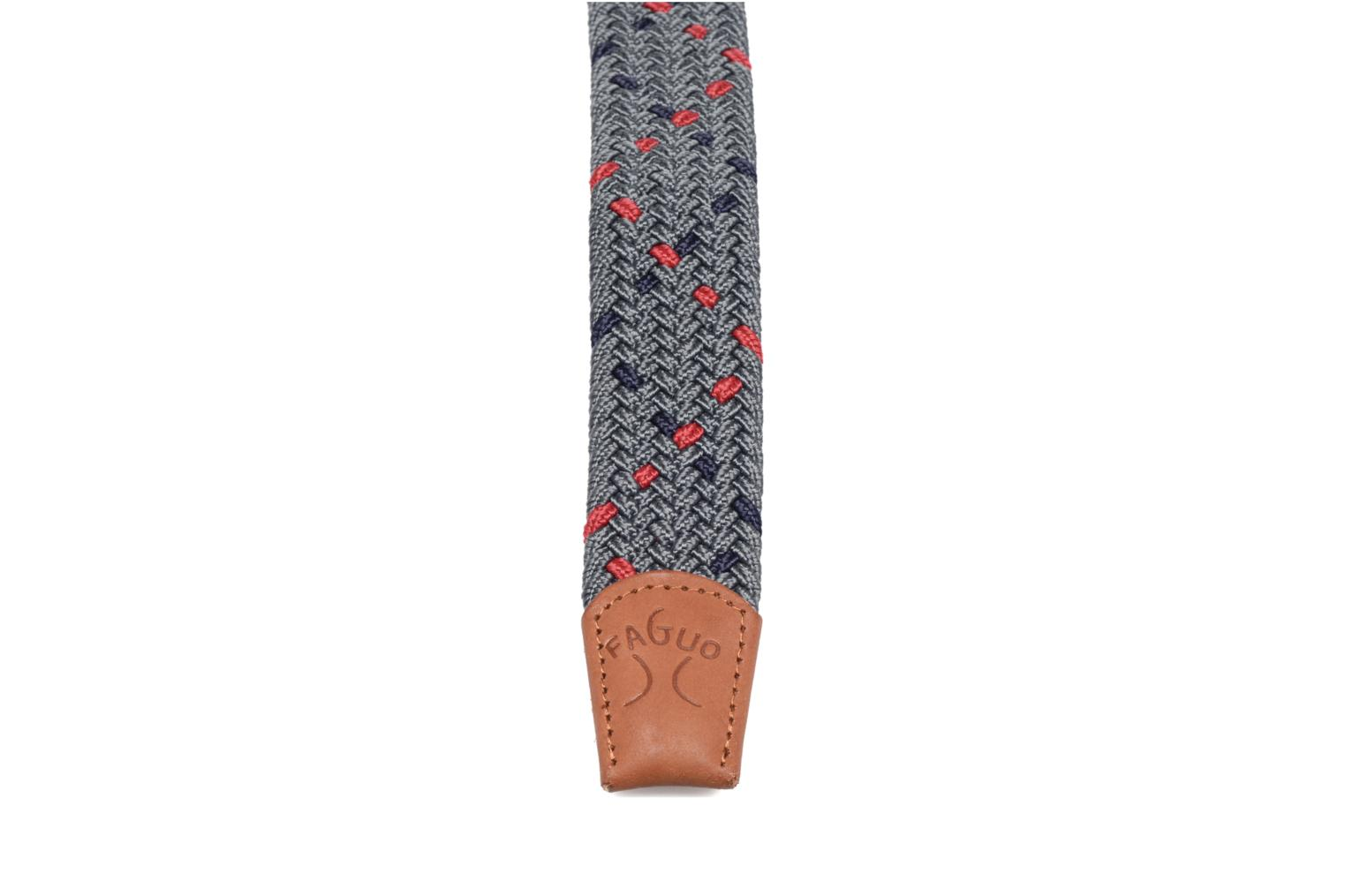 Belts Faguo Ceinture tressée tricolore Grey view from the right
