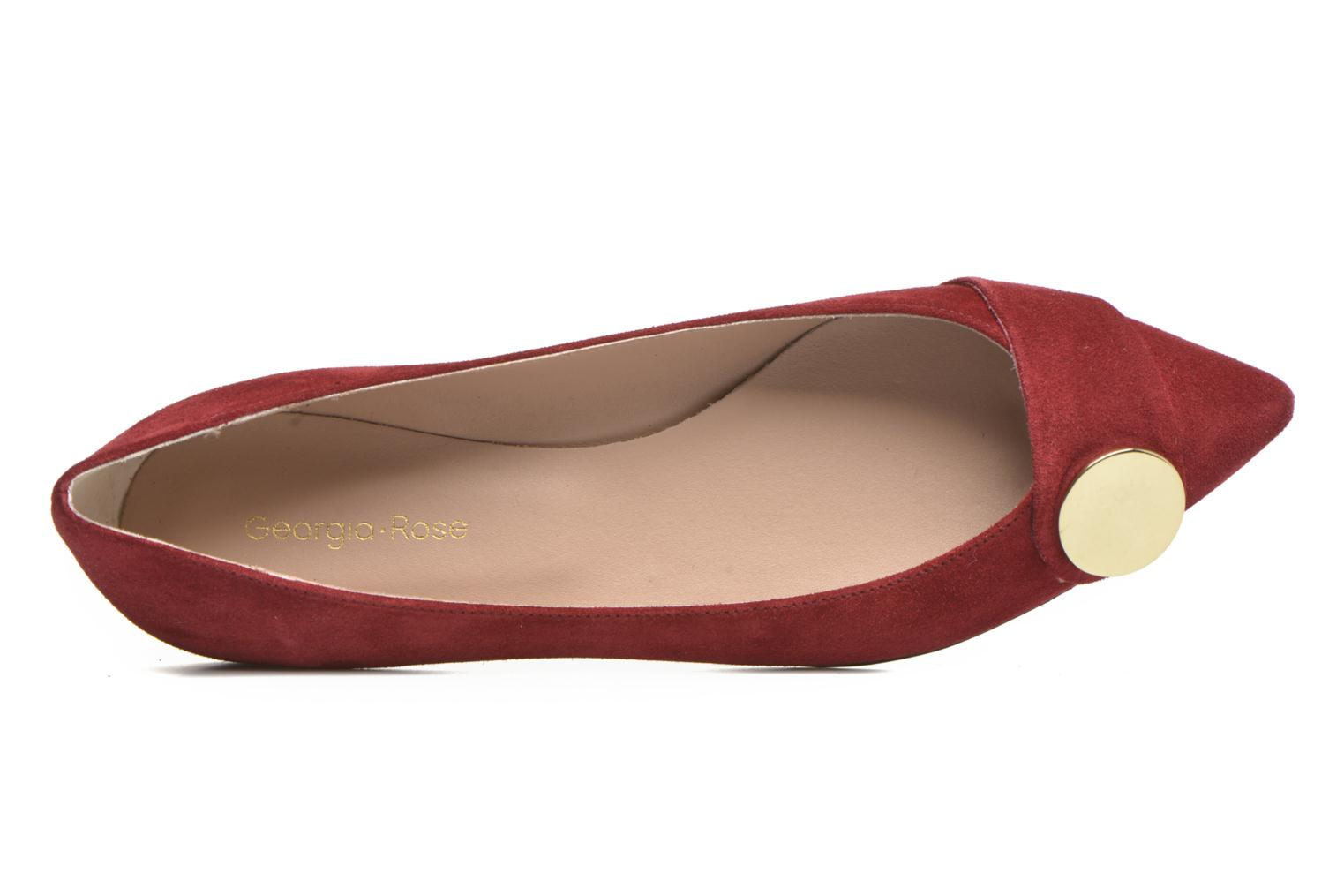 Ballet pumps Georgia Rose Jaol Burgundy view from the left