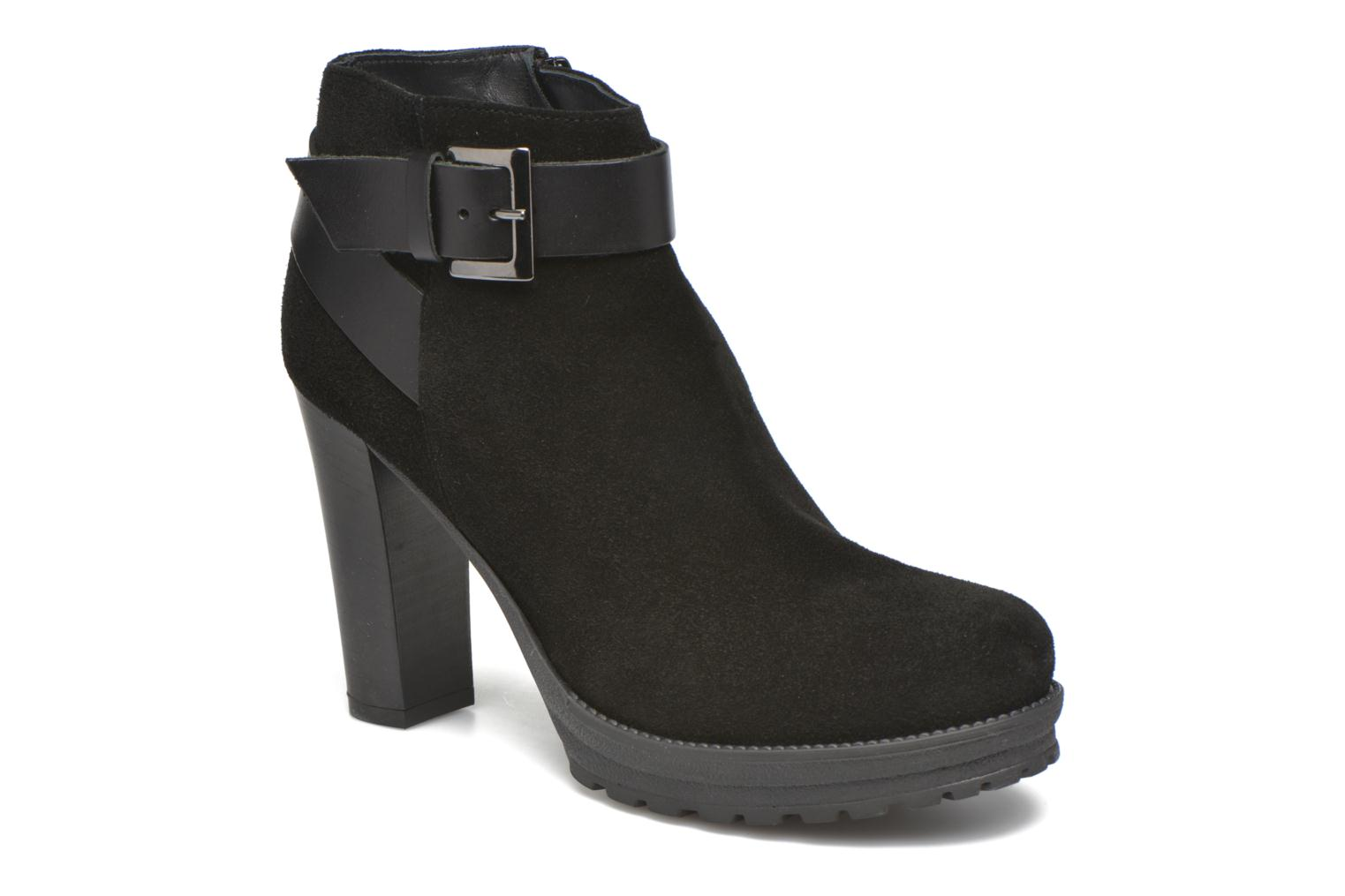 Ankle boots Georgia Rose Jalape Black detailed view/ Pair view