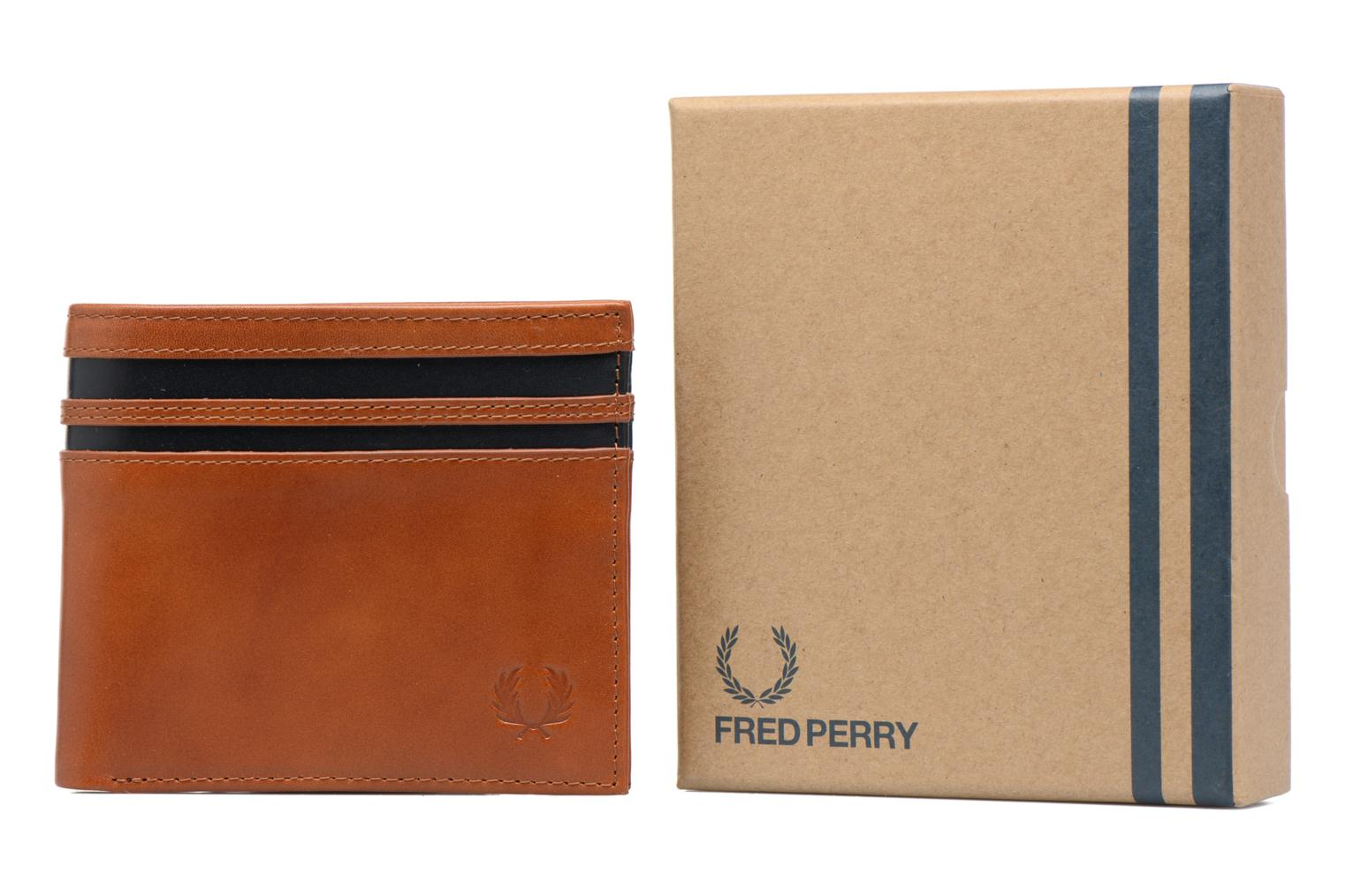 Petite Maroquinerie Fred Perry Portefeuille cuir Marron vue gauche
