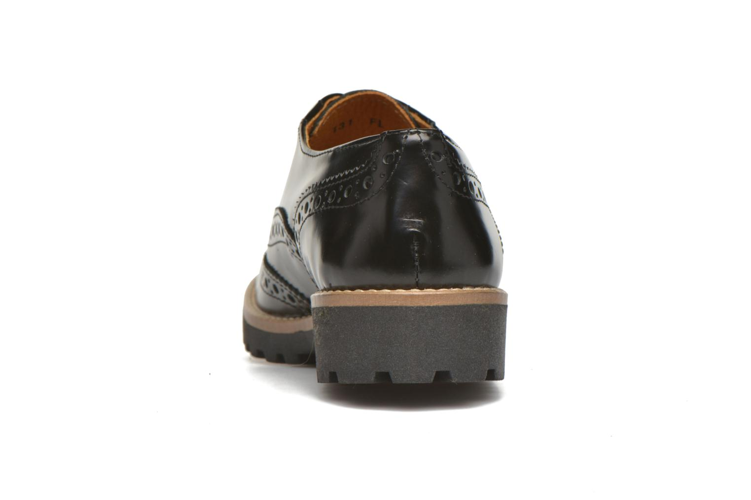 Lace-up shoes Georgia Rose Nilieu Black view from the right
