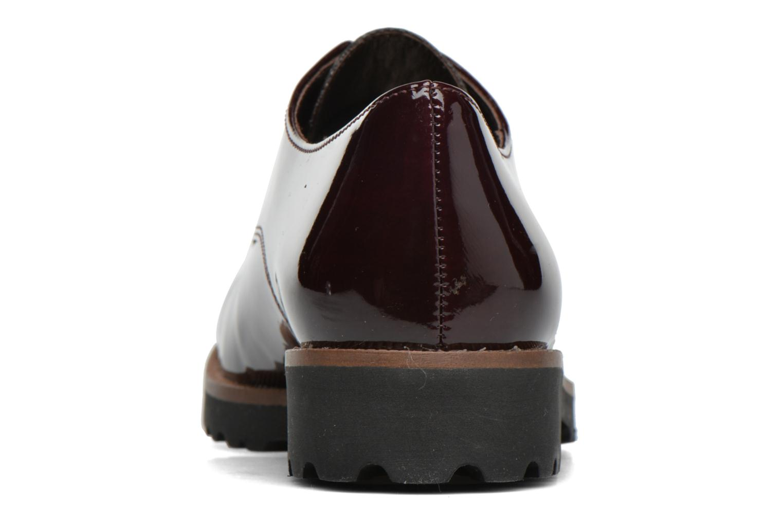Zapatos con cordones Gabor Brie Vino vista lateral derecha