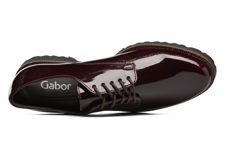 Zapatos con cordones Gabor Brie Vino vista lateral izquierda