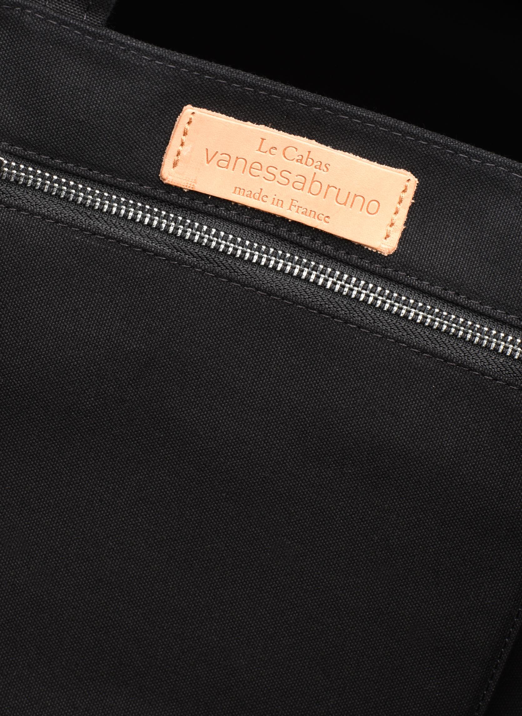 Handtaschen Vanessa Bruno Cabas paillettes toile Porté épaule M+ schwarz ansicht von hinten