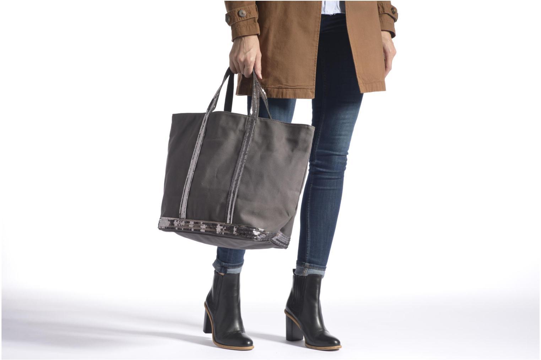 Handtaschen Vanessa Bruno Cabas paillettes toile Porté épaule M+ schwarz ansicht von oben