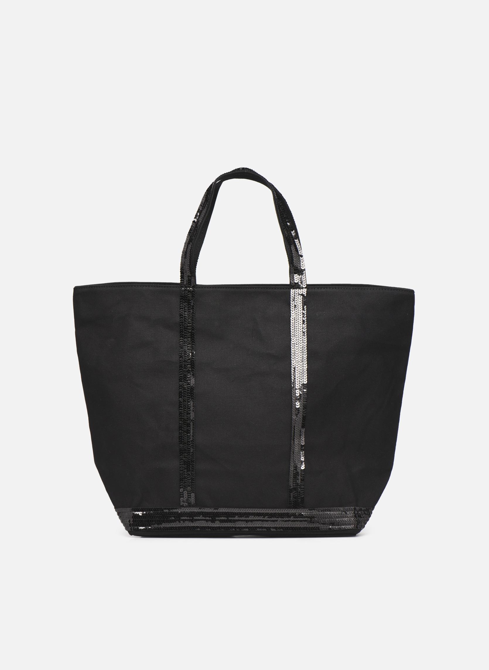 Handtaschen Vanessa Bruno Cabas paillettes toile Porté épaule M+ schwarz detaillierte ansicht/modell
