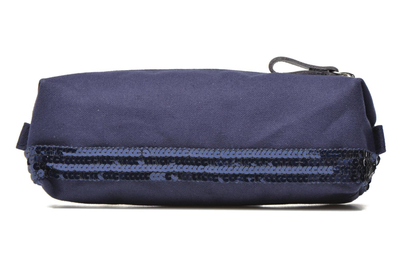 School bags Vanessa Bruno Trousse paillettes toile Blue front view