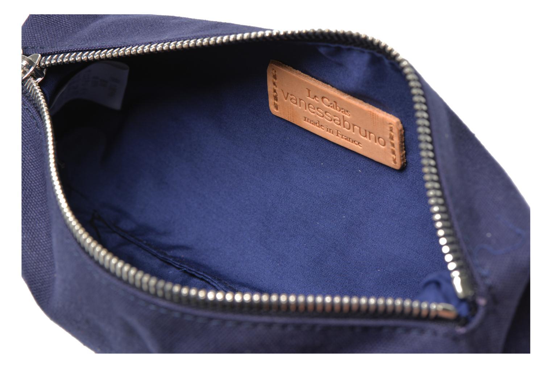 School bags Vanessa Bruno Trousse paillettes toile Blue back view