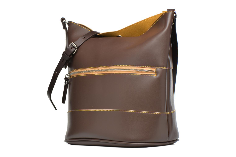 Handtaschen Paquetage Seau bicolore braun schuhe getragen