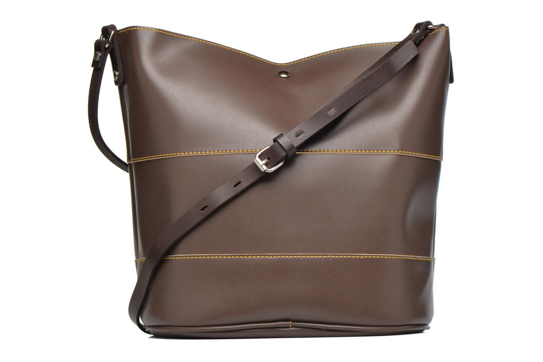 Handbags Paquetage Seau bicolore Brown front view