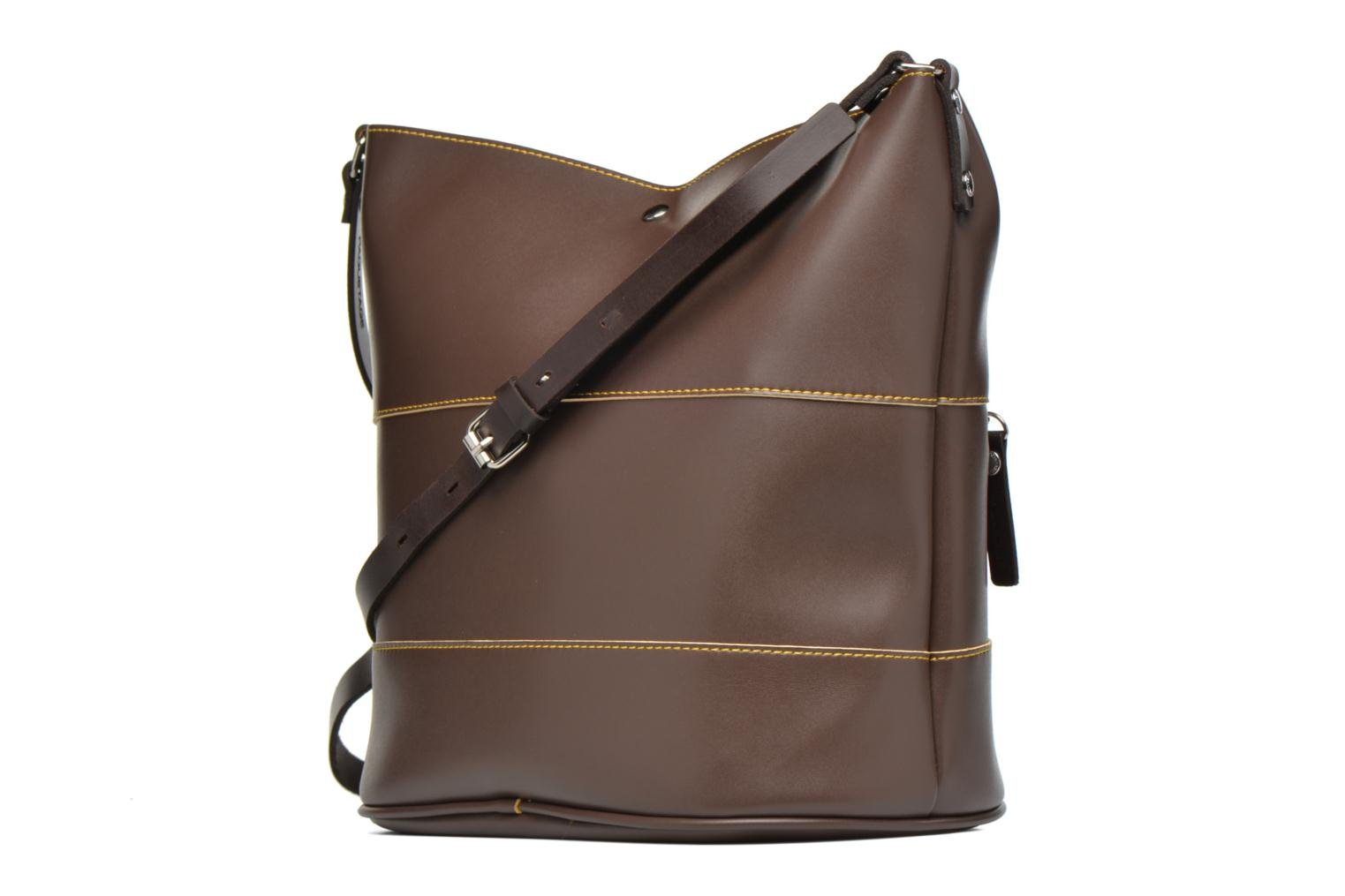 Handbags Paquetage Seau bicolore Brown view from the right