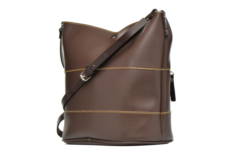 Handtaschen Paquetage Seau bicolore braun ansicht von rechts