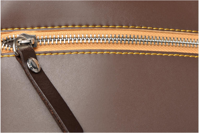 Handtaschen Paquetage Seau bicolore braun ansicht von links
