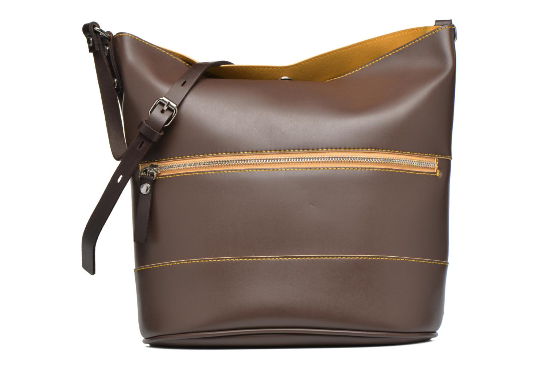 Handbags Paquetage Seau bicolore Brown detailed view/ Pair view