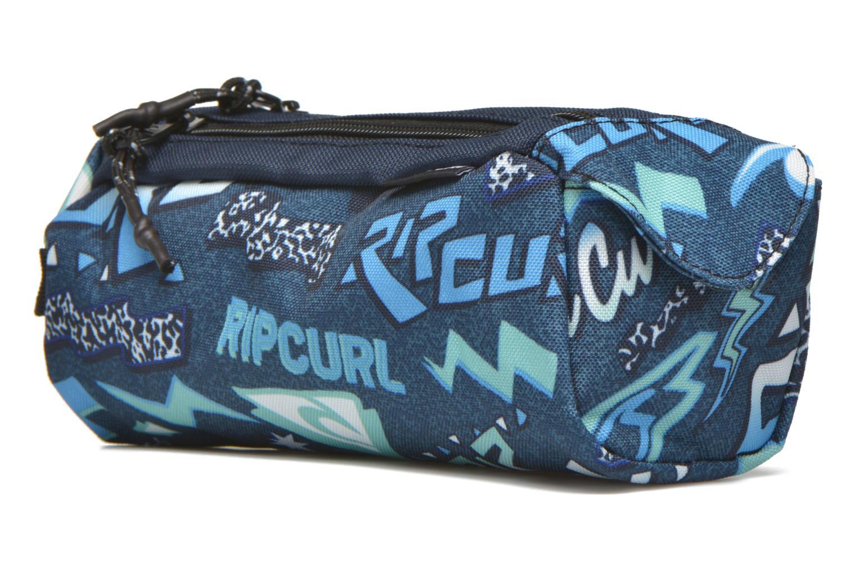 Scolaire Rip Curl Neon Vibes Trousse double Bleu vue portées chaussures